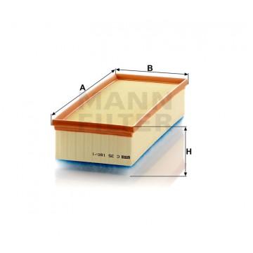 Oro filtras MANN-FILTER C 35 160/1 | MOVIDA.LT