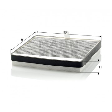 Salono filtras MANN-FILTER CUK 2855 | MOVIDA.LT