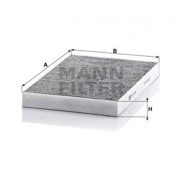 Salono filtras MANN-FILTER CUK 3037 | MOVIDA.LT
