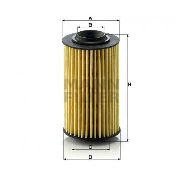 Alyvos | Tepalo filtras MANN-FILTER HU 69/3 x | MOVIDA.LT