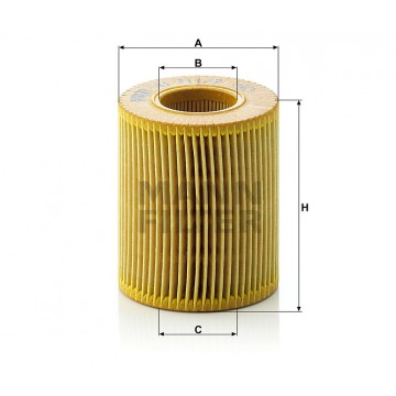 Alyvos | Tepalo filtras MANN-FILTER HU 711/2 x | MOVIDA.LT