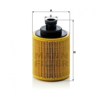 Alyvos | Tepalo filtras MANN-FILTER HU 712/7 x | MOVIDA.LT
