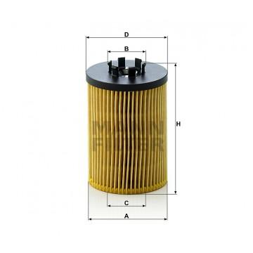 Alyvos | Tepalo filtras MANN-FILTER HU 715/5 x | MOVIDA.LT