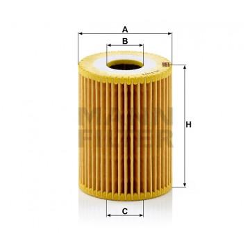 Alyvos | Tepalo filtras MANN-FILTER HU 719/3 x | MOVIDA.LT
