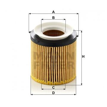 Alyvos | Tepalo filtras MANN-FILTER HU 8002 x KIT | MOVIDA.LT