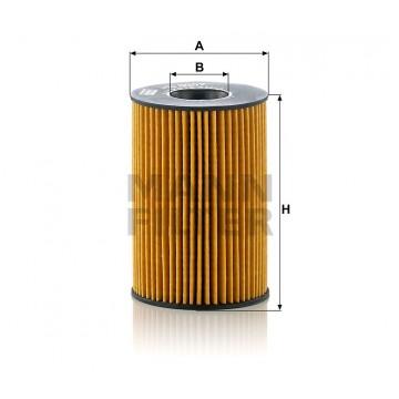 Alyvos | Tepalo filtras MANN-FILTER HU 8007 z | MOVIDA.LT