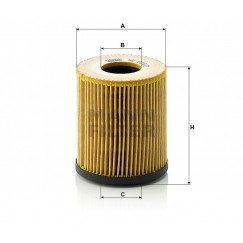 Alyvos | Tepalo filtras MANN-FILTER HU 816/2 x