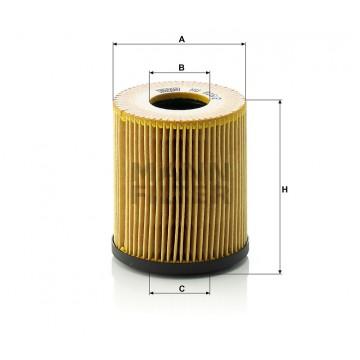 Alyvos | Tepalo filtras MANN-FILTER HU 816/2 x | MOVIDA.LT