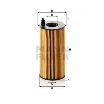 Alyvos | Tepalo filtras MANN-FILTER HU 820/2 x | MOVIDA.LT