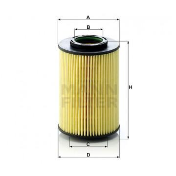 Alyvos | Tepalo filtras MANN-FILTER HU 822/5 x | MOVIDA.LT