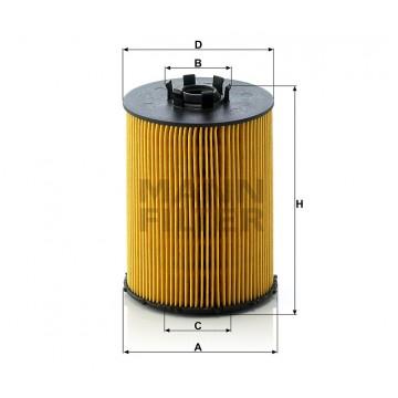 Alyvos | Tepalo filtras MANN-FILTER HU 823 x | MOVIDA.LT