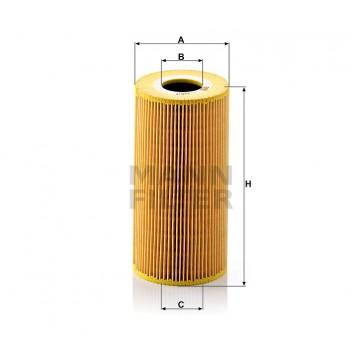 Alyvos | Tepalo filtras MANN-FILTER HU 848/1 x | MOVIDA.LT