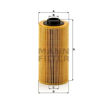 Alyvos | Tepalo filtras MANN-FILTER HU 938/4 x | MOVIDA.LT