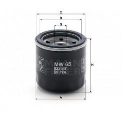 Alyvos | Tepalo filtras MANN-FILTER MW 65