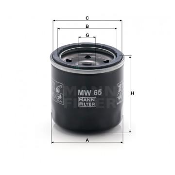 Alyvos | Tepalo filtras MANN-FILTER MW 65 | MOVIDA.LT