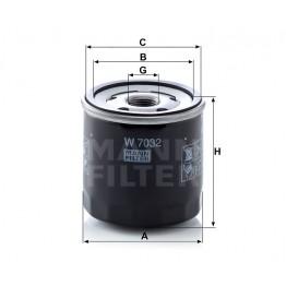 Alyvos | Tepalo filtras MANN-FILTER W 7032