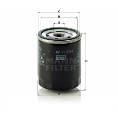 Alyvos | Tepalo filtras MANN-FILTER W 712/54