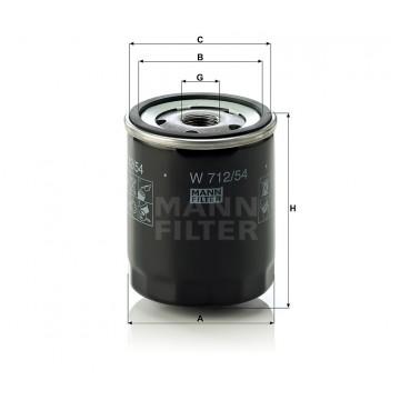 Alyvos | Tepalo filtras MANN-FILTER W 712/54 | MOVIDA.LT