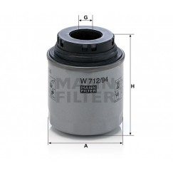 Alyvos | Tepalo filtras MANN-FILTER W 712/94