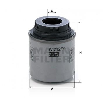 Alyvos | Tepalo filtras MANN-FILTER W 712/94 | MOVIDA.LT