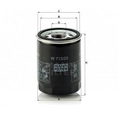 Alyvos | Tepalo filtras MANN-FILTER W 713/29