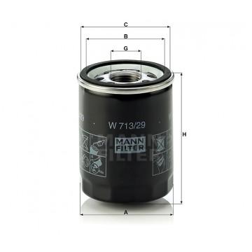 Alyvos | Tepalo filtras MANN-FILTER W 713/29 | MOVIDA.LT
