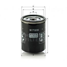 Alyvos | Tepalo filtras MANN-FILTER W 713/35