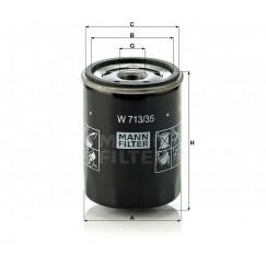 Alyvos | Tepalo filtras MANN-FILTER W 719/7
