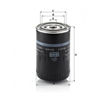 Alyvos | Tepalo filtras MANN-FILTER W 940/50 | MOVIDA.LT