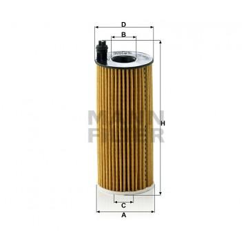 Alyvos | Tepalo filtras MANN-FILTER HU 6004 x | MOVIDA.LT