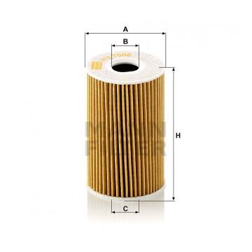 Alyvos | Tepalo filtras MANN-FILTER HU 7008 z | MOVIDA.LT