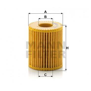 Alyvos | Tepalo filtras MANN-FILTER HU 7009 z | MOVIDA.LT