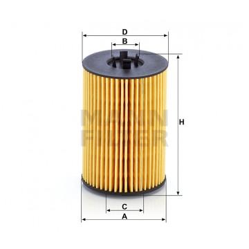 Alyvos | Tepalo filtras MANN-FILTER HU 7020 z | MOVIDA.LT