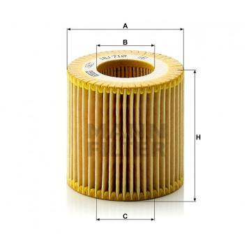 Alyvos | Tepalo filtras MANN-FILTER HU 710 x | MOVIDA.LT