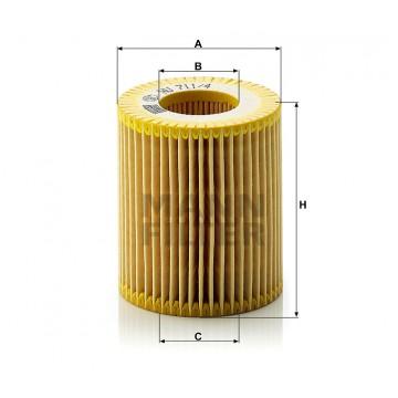 Alyvos | Tepalo filtras MANN-FILTER HU 711/4 x | MOVIDA.LT
