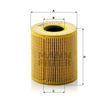 Alyvos | Tepalo filtras MANN-FILTER HU 711/51 x | MOVIDA.LT
