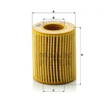 Alyvos | Tepalo filtras MANN-FILTER HU 711 x | MOVIDA.LT