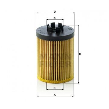 Alyvos | Tepalo filtras MANN-FILTER HU 712/8 x | MOVIDA.LT