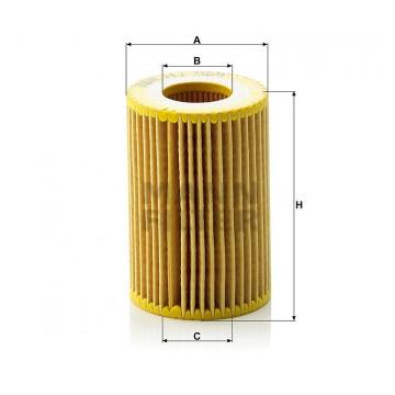 Alyvos | Tepalo filtras MANN-FILTER HU 712/9 x | MOVIDA.LT