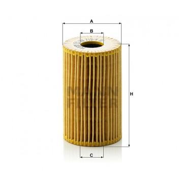 Alyvos | Tepalo filtras MANN-FILTER HU 715/4 x | MOVIDA.LT