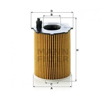 Alyvos | Tepalo filtras MANN-FILTER HU 716/2 x | MOVIDA.LT