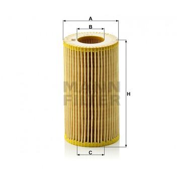 Alyvos | Tepalo filtras MANN-FILTER HU 718/1 n | MOVIDA.LT