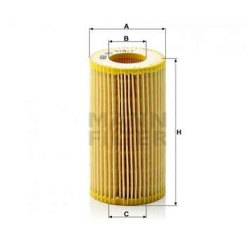 Alyvos | Tepalo filtras MANN-FILTER HU 718/1 z | MOVIDA.LT