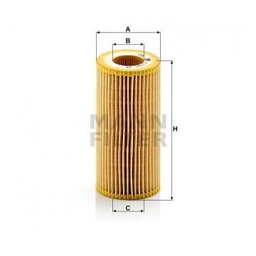 Alyvos | Tepalo filtras MANN-FILTER HU 719/6 x | MOVIDA.LT