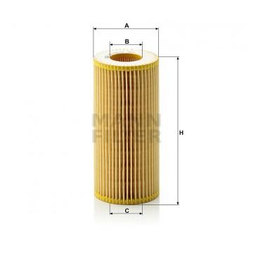Alyvos | Tepalo filtras MANN-FILTER HU 721/2 x | MOVIDA.LT