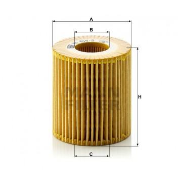 Alyvos | Tepalo filtras MANN-FILTER HU 815/2 x | MOVIDA.LT