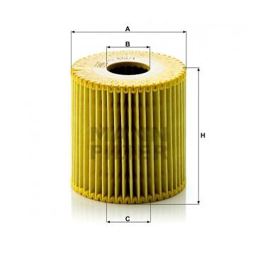 Alyvos | Tepalo filtras MANN-FILTER HU 819/1 x | MOVIDA.LT