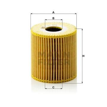 Alyvos | Tepalo filtras MANN-FILTER HU 819 x | MOVIDA.LT