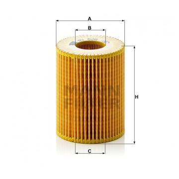 Alyvos | Tepalo filtras MANN-FILTER HU 820 x | MOVIDA.LT