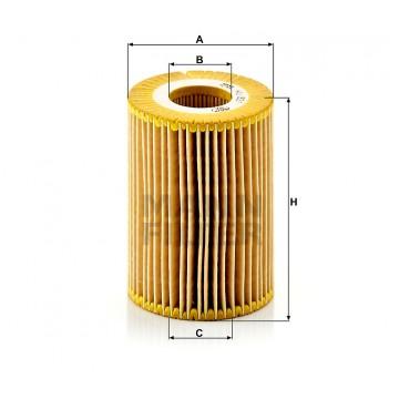 Alyvos | Tepalo filtras MANN-FILTER HU 821 x | MOVIDA.LT